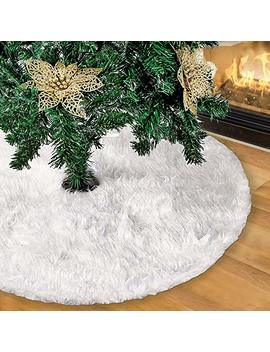 Eoout 55 Inch White Christmas Tree Skirt For Christmas Tree Decoration And Christmas Home Decor by Eoout