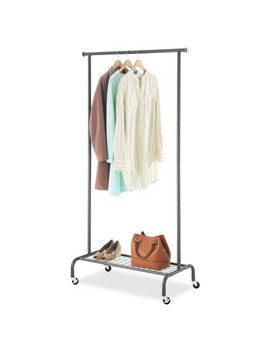 Whitmor Single Rod Garment Rack   Gunmetal by Whitmor