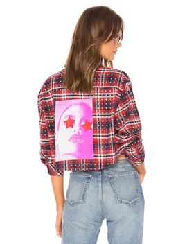 All Over Rhinestone Flannel Top by Frankie B