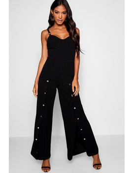 Button Detail Trouser by Boohoo