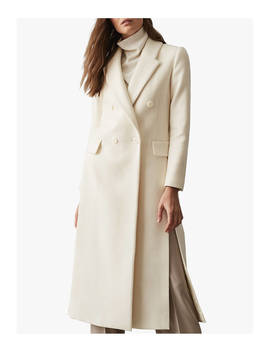 Reiss Grayson Wool Blend Tailored Coat, White by Reiss
