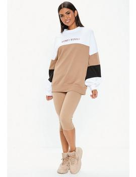 White Colour Block Honey Bunny Sweatshirt by Missguided