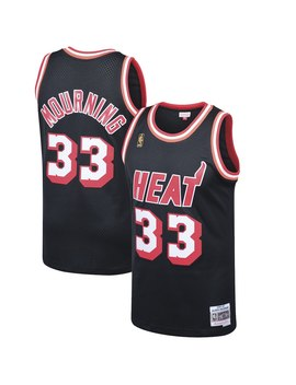 Alonzo Mourning Miami Heat Mitchell & Ness 1996 97 Hardwood Classics Swingman Jersey   Black by Mitchell & Ness