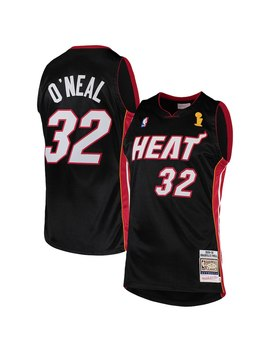 Shaquille O'neal Miami Heat Mitchell & Ness 2005 06 Hardwood Classics Authentic Jersey   Black by Mitchell & Ness