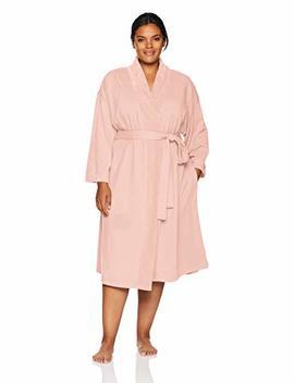 Arabella Women's Plus Size Baby Terry Kimono Wrap Robe by Arabella