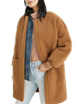 Bonded Fleece Cocoon Coat by Madewell