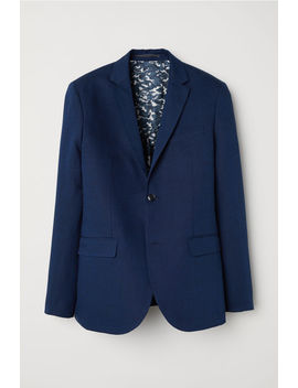 Linen Blend Jacket Slim Fit by H&M