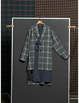 Dbsw Two Way Check Coat   Gray by Garmentory