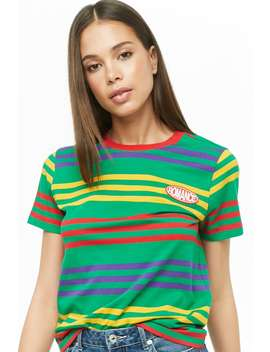 Romance Patch Striped Tee by Forever 21