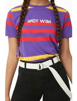 Striped New York Graphic Tee by Forever 21