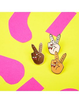 Girl Power (Peace) Enamel Pin   Spice Girls Pin   Feminist Pin   Galentines   Best Friends   Friendship   You Got This by Etsy