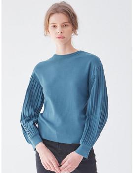 Balloon Sleeve Knit Blue by Plot