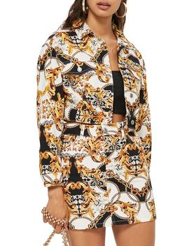 Chain Print Denim Jacket by Topshop