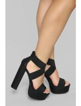 Thick Chick Heeled Sandal   Black by Fashion Nova