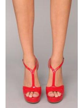 Gamma Ray Platform   Red by Fashion Nova