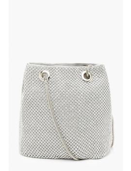 All Over Diamante Bag by Boohoo