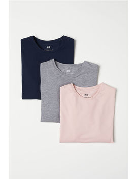 T Shirt Muscle Fit, 3 Pz by H&M
