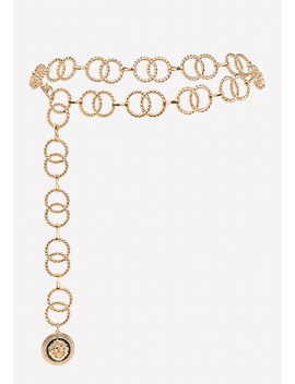 Lion Medallion Chain Belt by Bebe