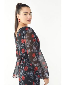Ali & Jay Only Wish Floral Surplice Jumpsuit by Ali & Jay