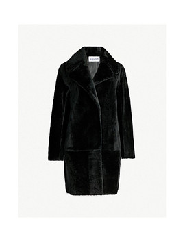 Fancy Shearling Coat by Claudie Pierlot