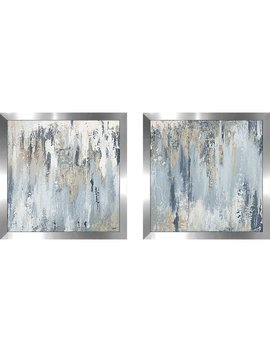 Mercury Row 'blue Illusion Square I' 2 Piece Framed Acrylic Painting Print Set & Reviews by Mercury Row