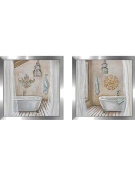 Highland Dunes Crystal Bath' 2 Piece Framed Acrylic Painting Print Set Under Glass & Reviews by Highland Dunes