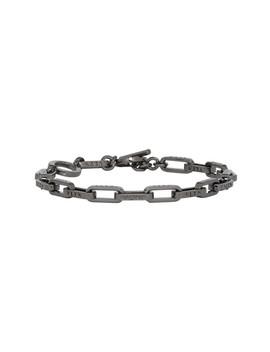 Gunmetal Valentino Garavani Chain Link Bracelet by Valentino