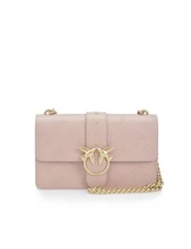 Chintz Rose Leather Cross Body Bag by Pinko
