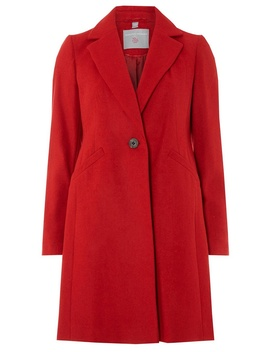 Petite Red Coat by Dorothy Perkins
