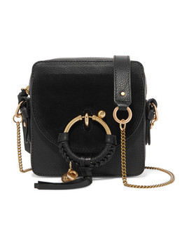 Square Textured Leather And Suede Shoulder Bag by See By Chloé