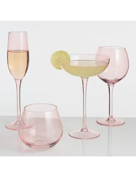 Blush Pink Glassware Collection by World Market