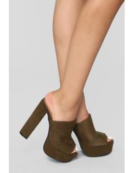 French Kisser Heel   Olive by Fashion Nova