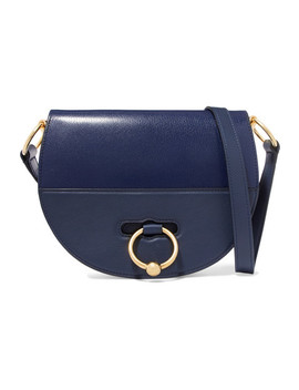 Latch Smooth And Textured Leather Shoulder Bag by Jw Anderson