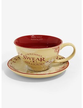Harry Potter Marauder's Map Teacup & Saucer by Hot Topic