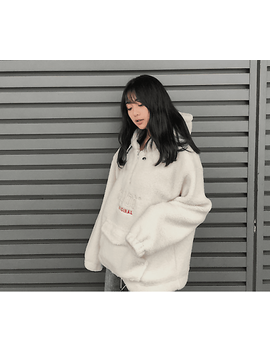 5252 By Oioi Lamb Fur Sweater Loose Hoodies by Undisclosed