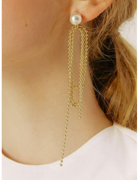 334 Rope Unbalance Earring by Clever Move