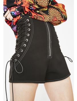 Padlock Zip Shorts by Jaded London