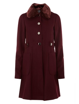 **Tall Wine Dolly Coat by Dorothy Perkins