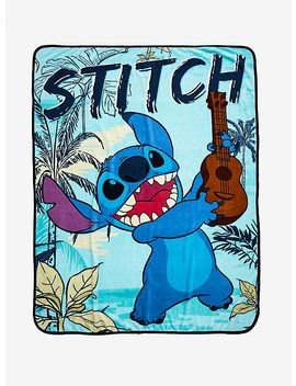 Disney Lilo & Stitch Guitar Stitch Throw Blanket by Hot Topic