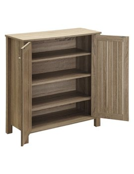 Coaster Company 2 Door Shoe Cabinet, Dark Taupe by Coaster Company