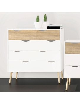 Tvilum Diana 5 Drawer Chest, Multiple Finishes by Tvilum