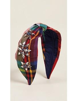 Rainbow Plaid Headband by Namjosh