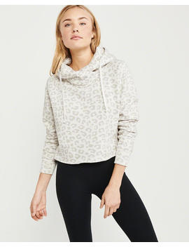 Cutoff Leopard Hoodie by Abercrombie & Fitch