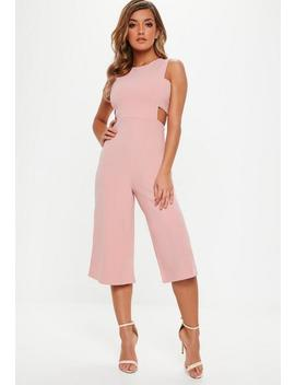Pink Tab Side Culotte Jumpsuit by Missguided