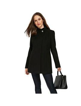 Wallis   Black Faux Wool Coat by Wallis