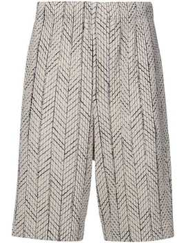 Embroidered Knee Length Shorts by Homme Plissé Issey Miyake