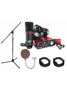 Focusrite Scarlett Solo Studio Pack 2nd Gen & Recording Bundle W/ Pro Tools, Includes, Universal Pop Filter Microphone Wind Screen,10 Premier Series Xlr Male Xlr Female 16 Awg Cable&Microphone Stand by Focusrite