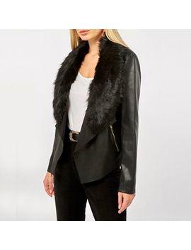 Dorothy Perkins   Black Faux Fur Waterfall Jacket by Dorothy Perkins