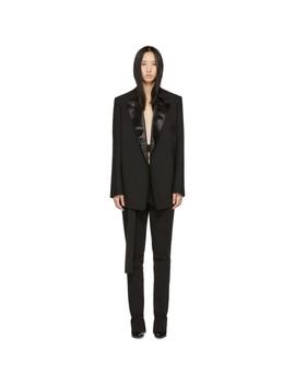 Black Canvas Tuxedo Blazer by Helmut Lang