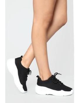Like I Said Sneaker  Black by Fashion Nova